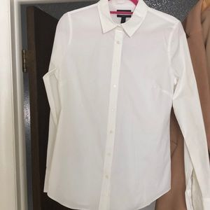 J Crew White Perfect Shirt size Tall Medium EUC!